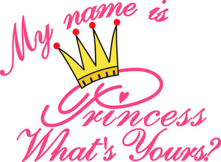 coronation: Let everyone know who the real princess is!  This design stitches out so pretty and becomes a work of art with metallic used on the crown.