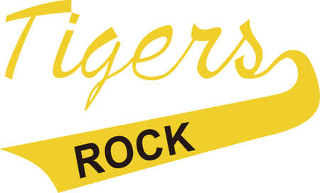 Show some Tiger pride with spirit wear displaying this sporting logo.  Great for vinyl cuts or stitching.