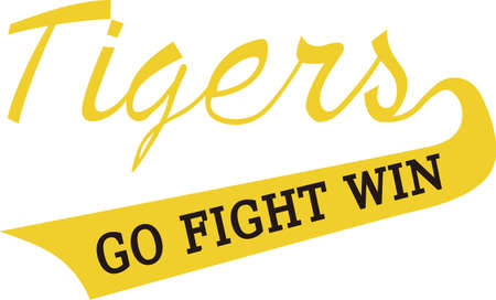 stitching: Show some Tiger pride with spirit wear displaying this sporting logo.  Great for vinyl cuts or stitching.