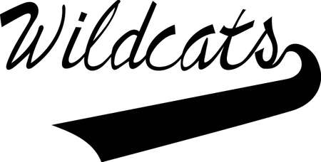 stitching: Display some Wildcat pride with spirit wear displaying this sporting logo.  Great for vinyl cuts or stitching.
