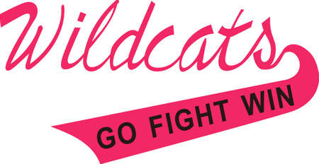 wildcat: Display some Wildcat pride with spirit wear displaying this sporting logo.  Great for vinyl cuts or stitching.