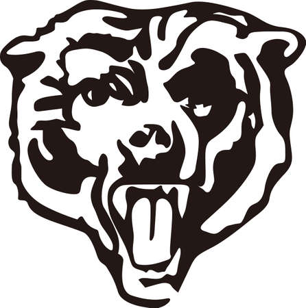 Show some Bear pride with this fierce logo.  Great for vinyl cuts or stitching. Ilustrace