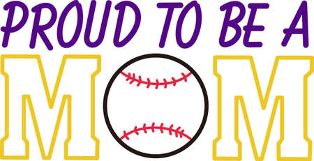 Create perfect game day wear for the softball or baseball mom.  Use as an eye catching outline or fill with vinyl.  Either way its sure to be a hit!