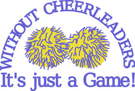 Whats a good cheerleader without pom poms!  We have the best pom poms ever to decorate the most fantastic spirit gear ever! Illustration