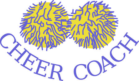pom poms: Whats a good cheerleader without pom poms!  We have the best pom poms ever to decorate the most fantastic spirit gear ever! Illustration