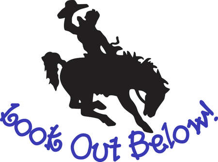 Let's rodeo!  This cowboy on a buckin' bronco is a perfect silhouette to add some cowboy charm to your creations