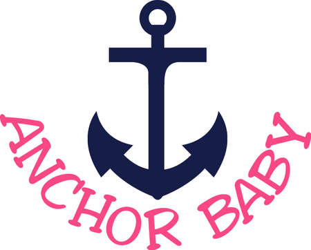 Anchors away!  Let's create something for the nautical set.