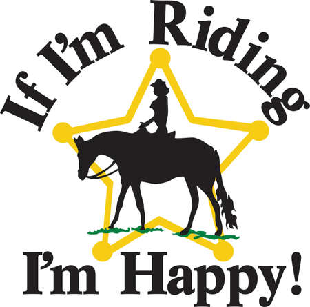 equestrian: A design custom made for the star equestrian.  Display your western style with this star rider.