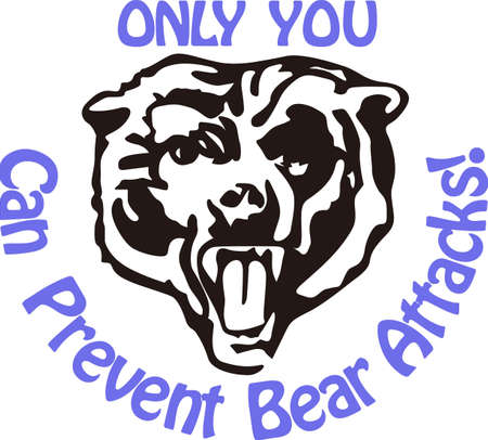 Show some Bear pride with this fierce.  Great for vinyl cuts or stitching.