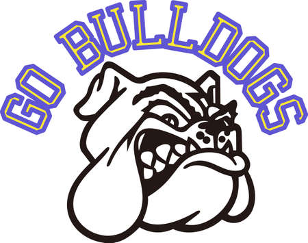 game show: Show some Bulldog spirit with this fierce.  Great for game day wear.