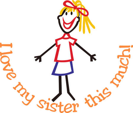 big figure: We love stick people families!  Our little girl is just what you need to complete the group.  These sweet little people are absolutely precious.