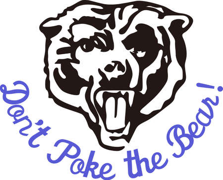 Show some Bear pride with this fierce logo.  Great for vinyl cuts or stitching. Иллюстрация