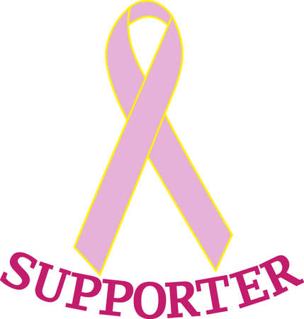 designated: Create an awareness campaign for your designated cause.  Simply changing the ribbon color will render this design a sign of hope for most any cause