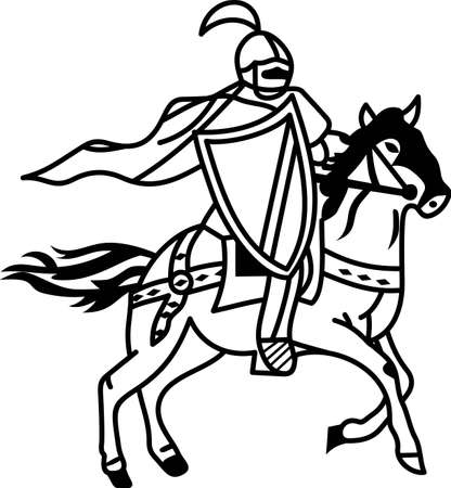 joust: Lancers Rule!  Show your Lancer spirit with your mascot on game day spirit wear! Illustration