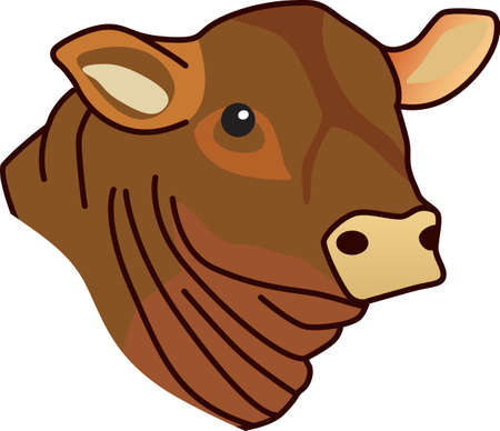 This lovely angus is a cattle barons prize.  Create a prize winning jacket for a cattle rancher featuring this cow. Illustration