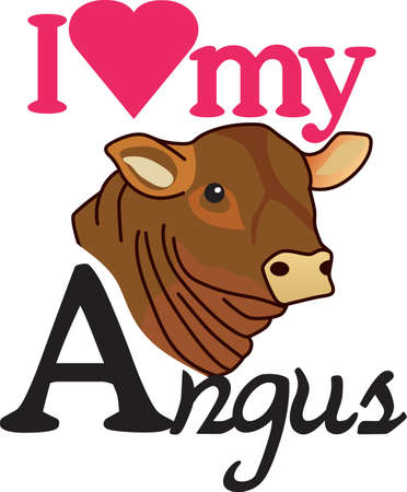 rancher: This lovely angus is a cattle barons prize.  Create a prize winning jacket for a cattle rancher featuring this cow. Illustration