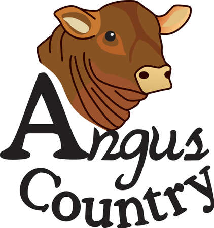 steers: This lovely angus is a cattle barons prize.  Create a prize winning jacket for a cattle rancher featuring this cow. Illustration