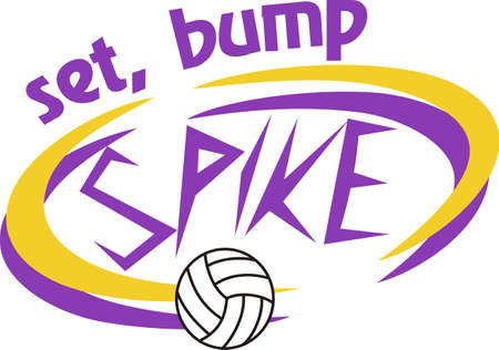 Volleyball is a fun sport taking years to master.  Add this image to a towel for your favorite player.  They will love it!