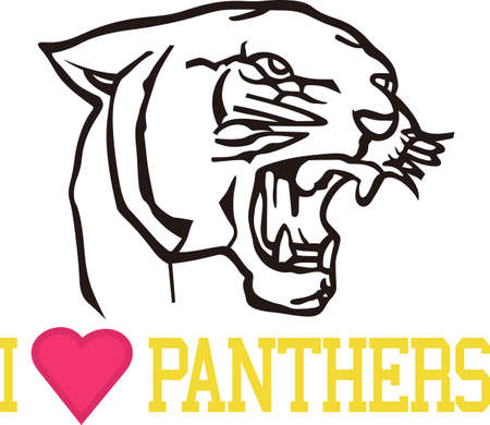 Let's Go Panthers!  Wear team spirit with the Panther proudly displayed on game day wear. Banco de Imagens - 51210443