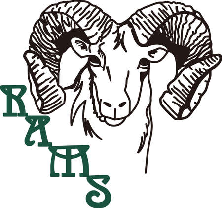 rams: Go, Fight, Win - Go Rams! Wear Rams mascot proudly on your game day gear!