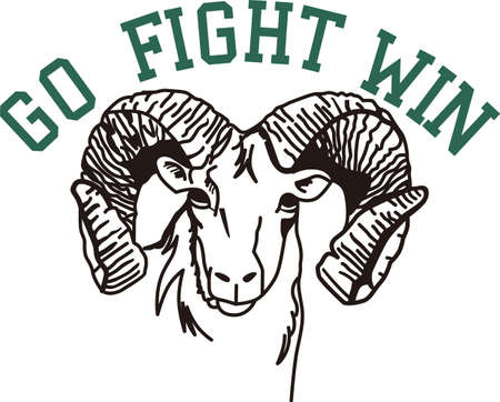 Go, Fight, Win - Go Rams! Wear Rams mascot proudly on your game day gear!