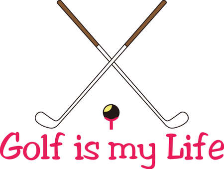 Golf is a fun life sport taking years to master.  Add this image to a towel for your favorite player.  They will love it! Çizim