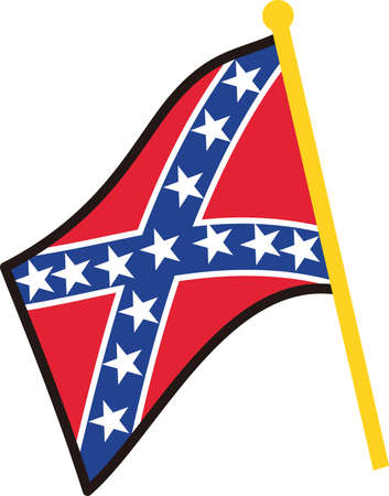 confederation: Decorate with a symbol of the Confederacy.  Perfect Southern charm for hats and caps.