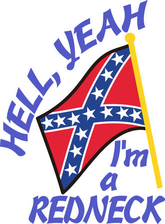 rebels: Decorate with a symbol of the Confederacy.  Perfect Southern charm for hats and caps.