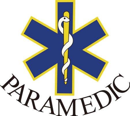 생명의 별은 널리 응급 의료 대응을위한 상징으로 인식되고있다. 스크럽 셔츠 꾸밈 적합합니다.