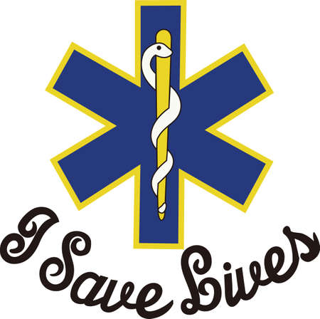 er: The star of life is widely recognized as a symbol for emergency medical response.  Perfect for scrub shirt embellishment.
