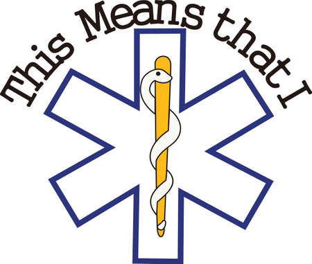 emergency response: The star of life is widely recognized as a symbol for emergency medical response.  Perfect for scrub shirt embellishment.