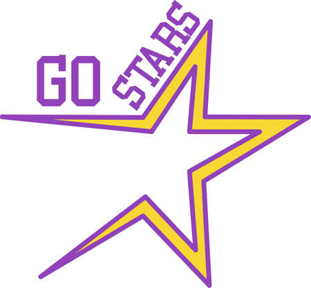 Lets go stars!  Turn your team into super stars with this fantastic team logo.