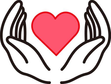 Ouders lijken om het hart van hun kinderen in hun handen houden. Maak een speciaal iets voor de presentatie van deze meest bijzondere liefde. Stock Illustratie