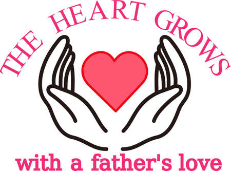 Parents seem to hold their childrens heart in their hands.  Create a something special to showcase this most special love.