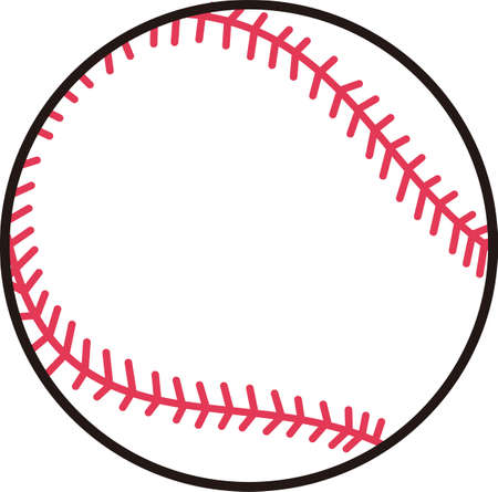 game show: Play ball!  Add this baseball to your game day wear to create an amazing show of support for the team. Illustration