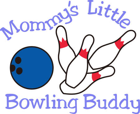 Strike!  Set up the pins it's time for bowling.  Can you imagine a better design for a bowling shirt!