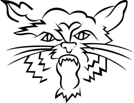 wildcats: Go Wildcats!  This fierce looking mascot in outline is a fantastic way to show some team spirit.
