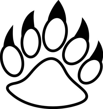 Fear the Paw!  Share some team spirit with this mighty paw displayed on your team gear and game day wear!