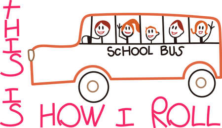 public figure: Time for school and all the kids are on the bus.  Super fun design for teachers and back to school gear.