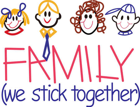Family where life begins and love never ends.  Our stick family faces create the cutest family ever for display on your special creations