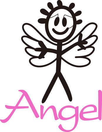 nurseries: Heaven has sent a special angel!  This super cute stick figure angel is the perfect decoration for nurseries and baby gear.  Perfect for vinyl cuts!