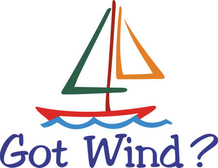 snap: Our colorful sailboat line drawing is a must for the boating crowd.  The simple, yet striking outline design make it a snap to stitch on your favorite sailing jacket. Illustration