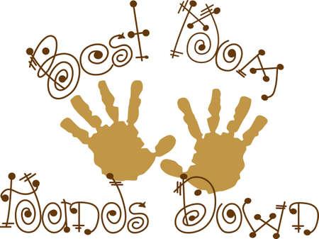 Les petits handprints créent des souvenirs spéciaux. Créer un héritage étonnant décoré avec ces empreintes spéciales. Banque d'images - 51211726