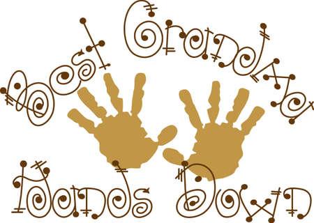 Les petits handprints créent des souvenirs spéciaux. Créer un héritage étonnant décoré avec ces empreintes spéciales. Banque d'images - 51211727