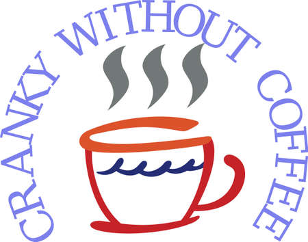 hot coffees: The morning just cant get off to the right start without a steaming cup of coffee.  Our coffee cup adds a bit of morning cheer to your kitchen dcor.