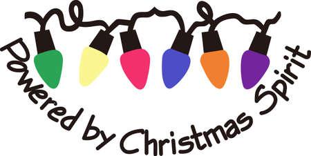 다채로운 조명으로 휴일을 장식하십시오. 우리는 특별한 아기들에게 이러한 일련의 조명을 좋아합니다. 일러스트