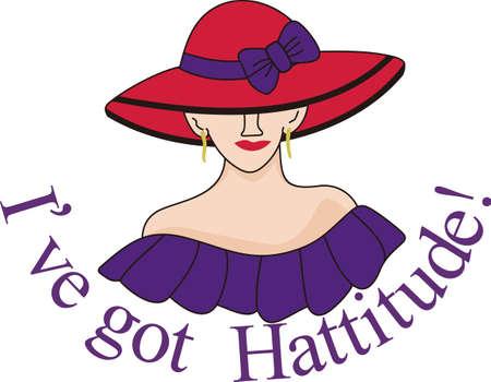 비범 한 모자를 만들기 위해 모자를 사용하십시오. 예쁜 아가씨에 큰 빨간 모자가 당신의 창조물에 밝은 촉감을 더합니다.