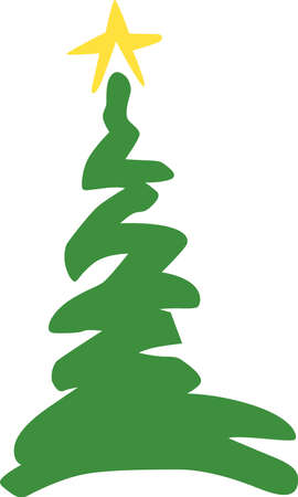 tannenbaum: A simple squiggle of a tree makes your holiday dcor just delightful.  Decorate holiday napkins with festive flair!