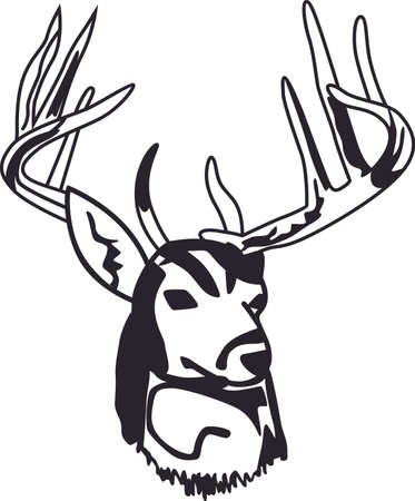 heard: With a perfect design to please the game hunter, add fun and creativity to your interior projects! Illustration