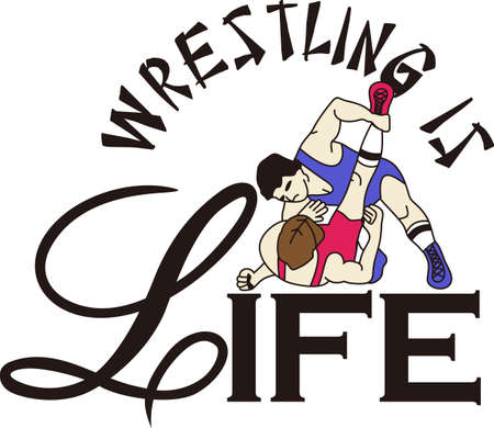 greco: Wrestling is a fun sport taking years to master.  Add this image to a towel for your favorite player.  They will love it! Illustration